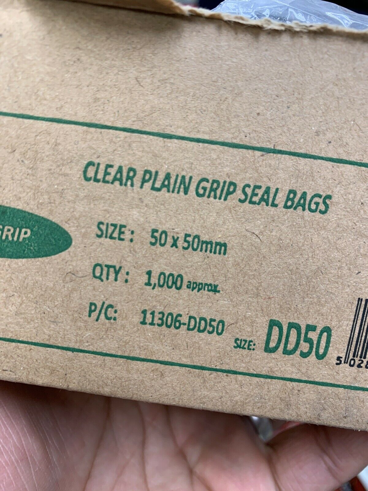 Grip Seal Lock Bags Clear DD50 50mm X 50mm Baggys Of 100 Cheap
