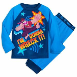 "Disney Store Wreck it Ralph Pajamas Set /""I/'m Gonna Wreck It/"" Boys PJ Size 4 7//8"