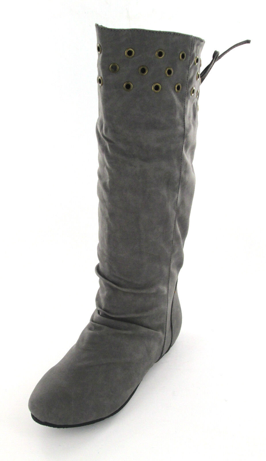 Ladies Unbranded Grey Mid calf pull on boot