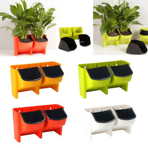 Image Is Loading Self Watering Vertical Garden Wall Hanging Planter Box