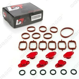 22mm RED ALUMINIUM SWIRL FLAP REPLACEMENT SET + O-RING FOR BMW 3 SERIES 5 series