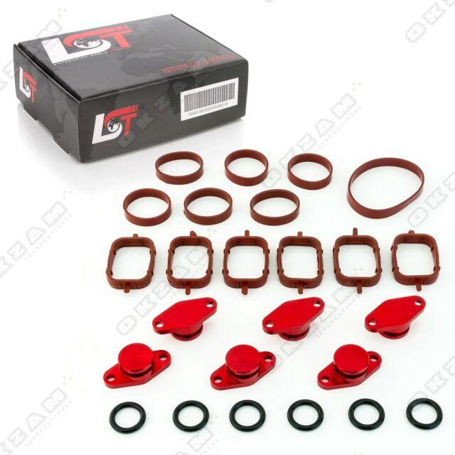 22mm Rouge Aluminium Spirale Clapet Remplacement Set + Torique Pour BMW 3 Série