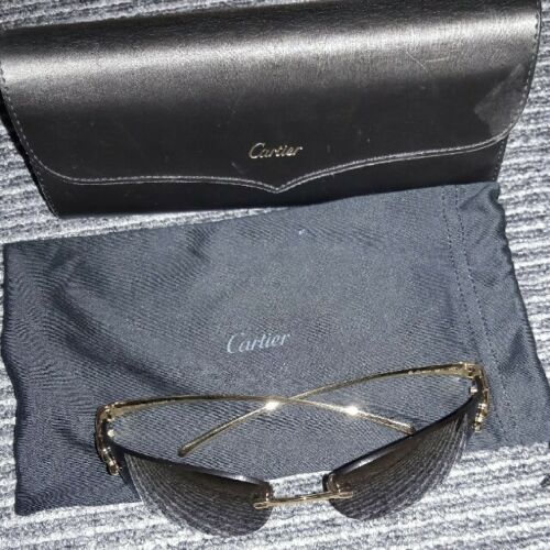 Cartier Panther Sunglasses Panther Gold Used