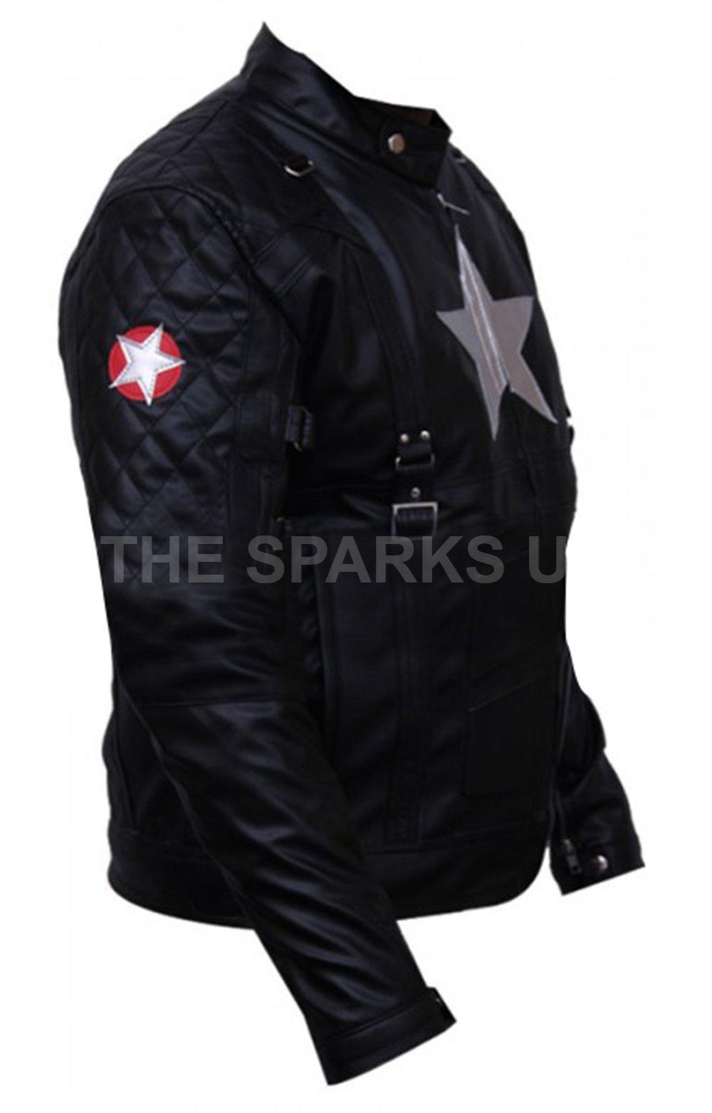 Avengers Steve ROGER Capitan America Giacca Costume Elegante Giacca America in Pelle-Grande Vendita d26ff2
