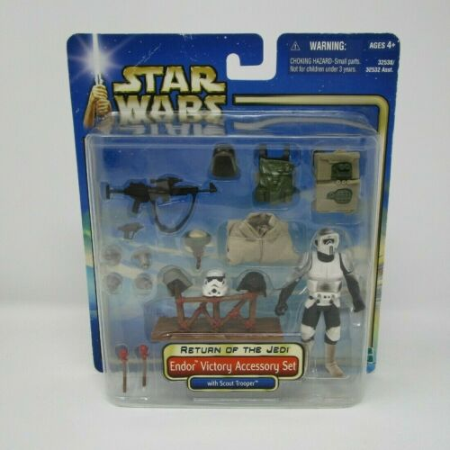 Endor Victory Accessory Set 2002 STAR WARS THE SAGA COLLECTION Comme neuf on Card Deluxe
