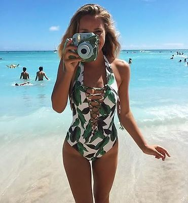 Womens Swimwear Tropical Monokini / Bikini Set Swimsuit Beachwear Bathing Suit
