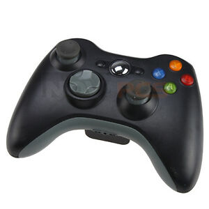 New-2-4GHz-BLACK-Microsoft-Xbox-360-Wireless-Remote-GAME-Controller