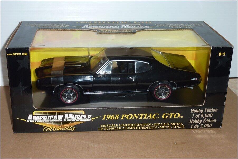 Célébrez Noël et et et bienvenue au Nouvel An 1968 PONTIAC GTO Hobby Edition 1/18 ERTL American Muscle | De Qualité Constante  4eb690