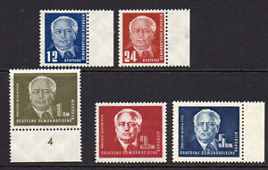 East Germany Set of 5 Stamps 1st Series c1949 Unmounted Mint Never Hinged (8179)