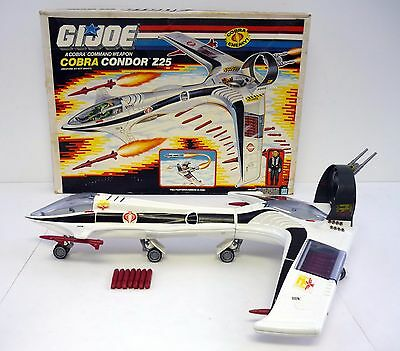 GI JOE COBRA CONDOR Z25 Vintage Action Figure Vehicle Jet COMPLETE w/BOX 1989