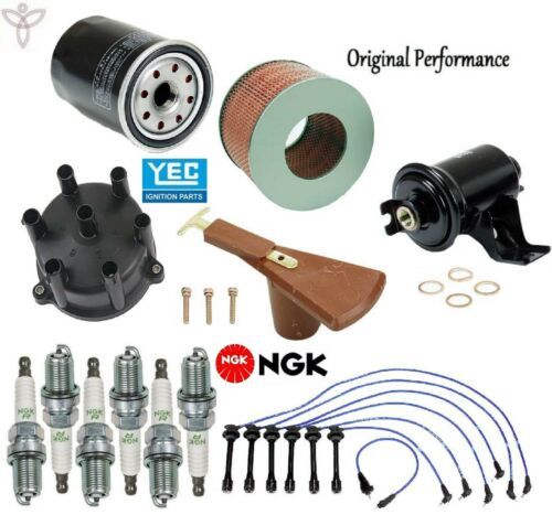 Tune Up Kit Filters Cap Rotor Spark Plugs Wire for Lexus LX450 1996-1997