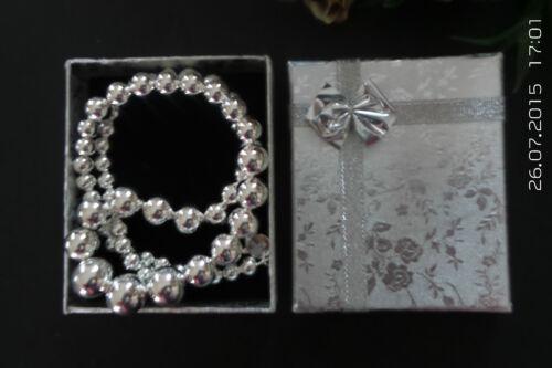 925 Sterling Silver Beads Vintage Necklace and Bracelet Set FSJN171S