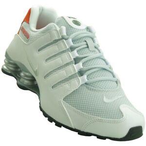 discount designer fashion sale retailer Mens Nike Shox NZ Sneakers New, White / Total Orange 833579-102 ...