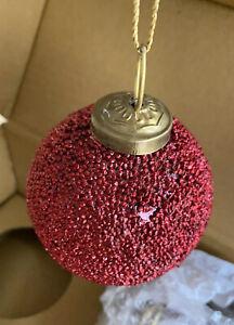 RESTORATION-HARDWARE-Christmas-Ornaments-glass-ball-in-original-box-3