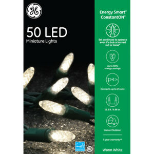 Details About Ge Energy Smart Constanton 50 Led Warm White M5 Mini Wedding Christmas Lights