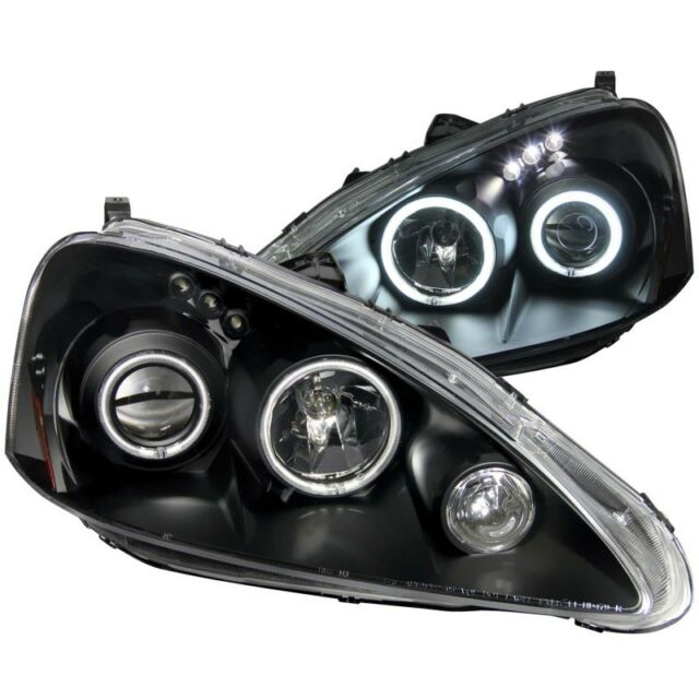 ANZO For 2005-2006 Acura Rsx Projector Headlights W/ Halo