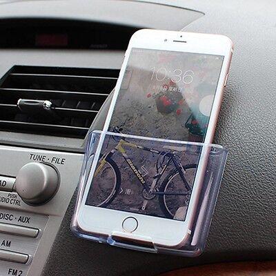Universal voiture organiseur téléphone sac rangement case transparent support HG