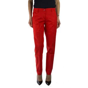 Armani Jeans C5P07DR Pantalone da Donna in Cotone Rosso tg 44 Regular  -37 %