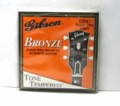 3 Gibson Bronze Alloy Wound Acoustic Guitar String Super Ultra Lt 10//47 G-200SUL