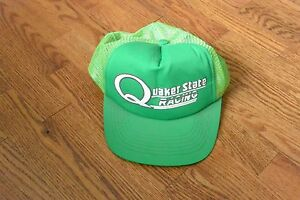 Vintage-Quaker-State-Racing-Green-Trucker-Cap-Hat-Snapback