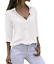 Women-039-s-Chiffon-Long-Sleeve-V-Neck-Blouses-Tops-Button-Down-Business-Blouse thumbnail 13