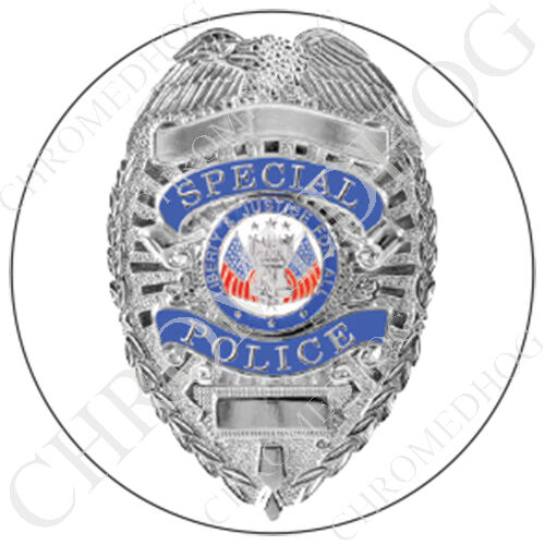 Premium Round 3M Epoxy Gel Domed Decal or Flat Sticker Special Police Badge W1