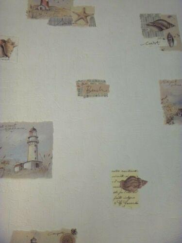 MARINE Papier Peint-Beach Scene-OBUS-Phares 51102101 Shabby Chic Vinyle