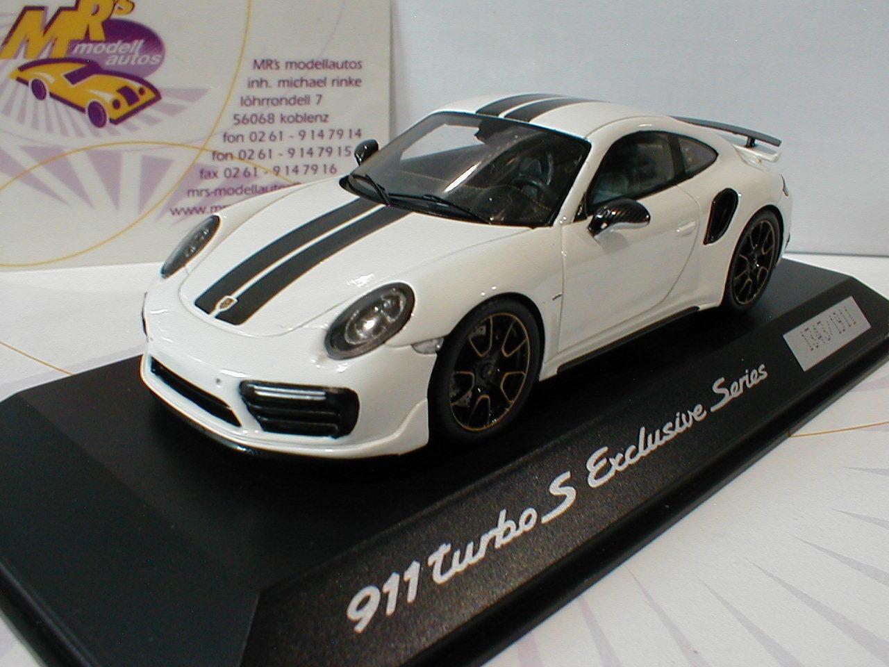 ¡no ser extrañado! Spark Spark Spark wap0209060h-Porsche 911 (991) Turbo S en  blancoo negro  1 43  opciones a bajo precio