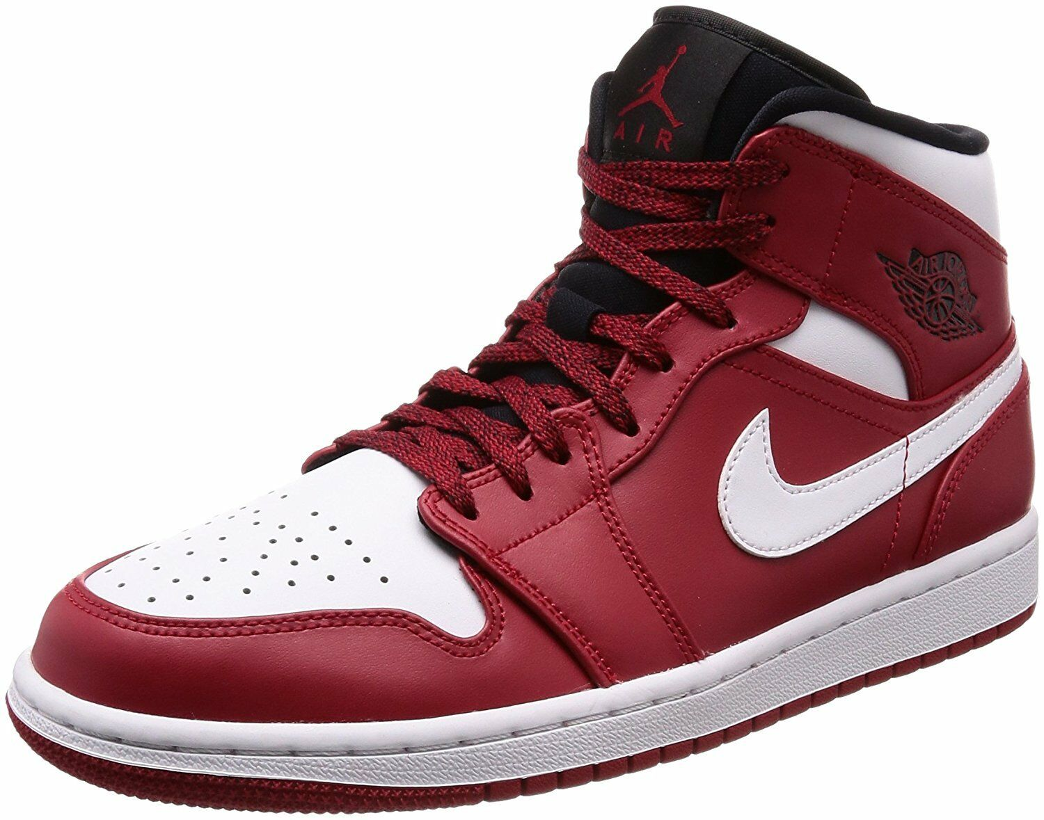 Jordan Mid 1 Gym Red White-Black (554724 605)