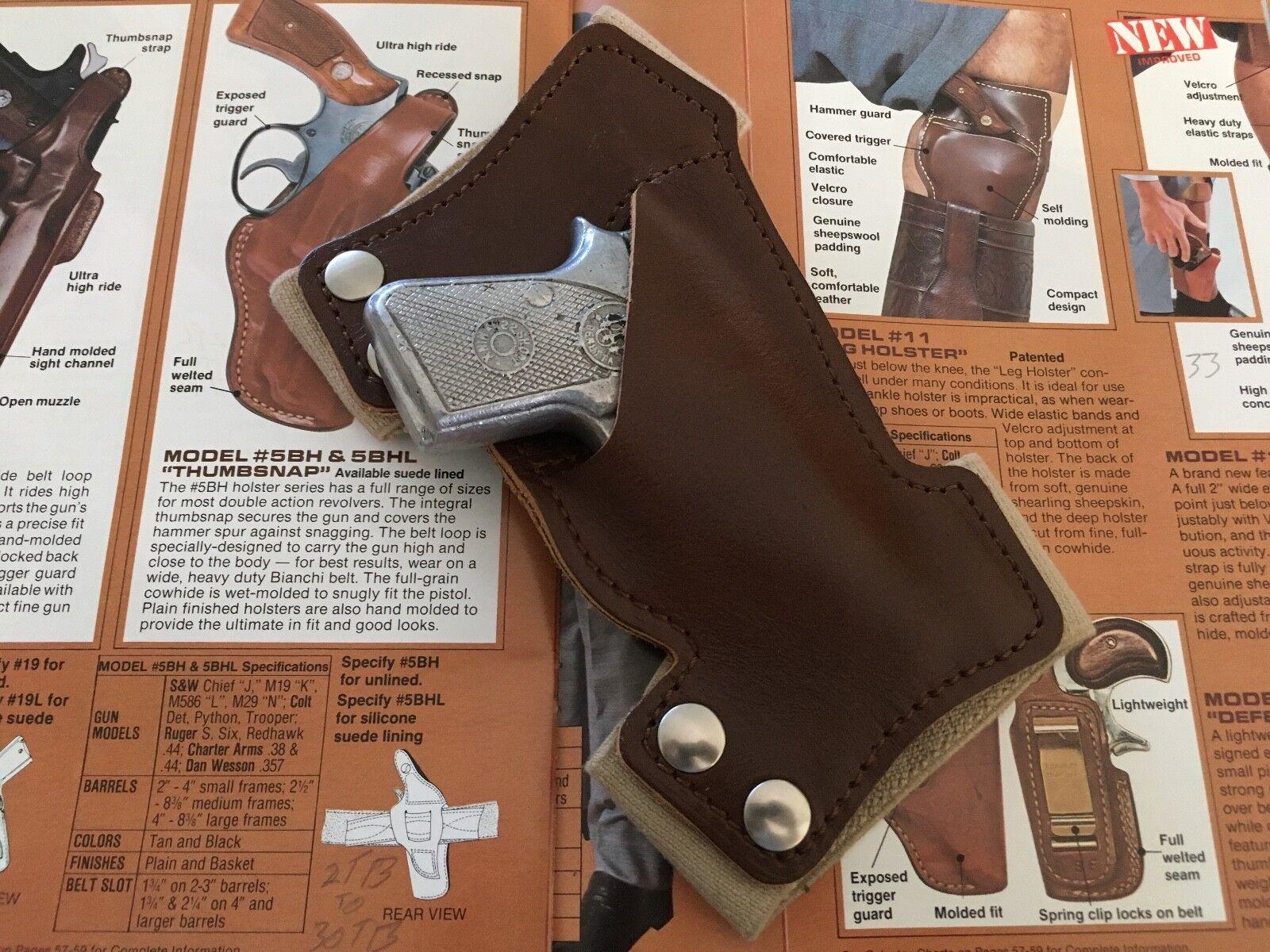 Vintage Bianchi  11 Holster Silent Partner Leg Holster 11 For Beretta Sterling .25 Auto 06fe4a