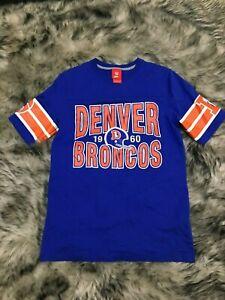 f6b35e49 Details about Men's Vintage Nike Denver Broncos Blue NFL Graphic Shirt  Jersey Size S Small