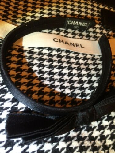 CHANEL Black CC Ribbon Bow Vintage Headband