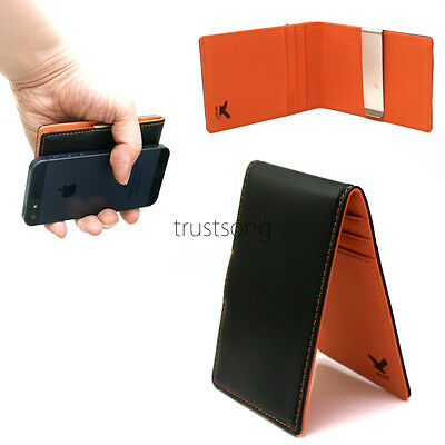 New Slim Fixed Metal Moneyclip Wallet Purse In Fashion iphonemate/Orange Colors
