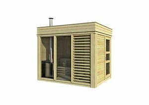 saunahaus blockbohlensauna sauna gartensauna aussensauna cube 2x3 m 38303. Black Bedroom Furniture Sets. Home Design Ideas