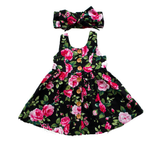 Kids Toddler Baby Girl Princess Dress Floral Pageant Wedding Party Tutu Dresses