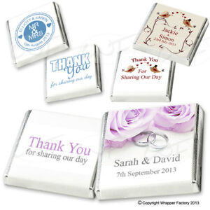 Image Is Loading 100 Personalised Chocolate Wedding Favours Best Selection On