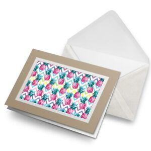 Greetings-Card-Biege-Funky-Pineapple-Summer-Surf-Surfer-14859