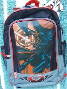 Details About Star Wars Backpack New Full Size 3 D Effects Canvas Book Bag Darth Vader Nwt