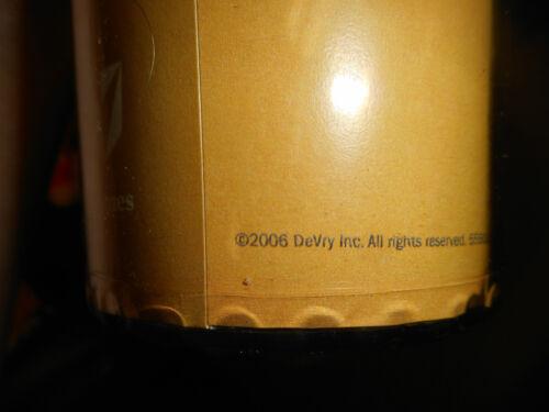 Brand New DeVry University Travel Mug 2006 Purpose *Vision *Values