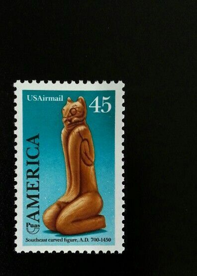 1989 45c Pre-Columbian Customs, Southeast Carved Figure