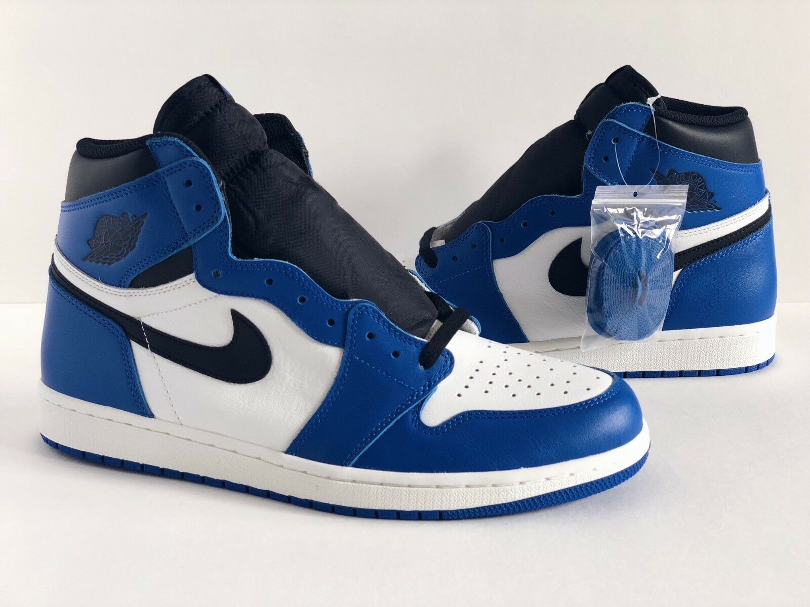 NIKE AIR JORDAN 1 GAME ROYAL [SZ 9 - 14] RETRO I HIGH OG BLUE BLK LOT 555088-403