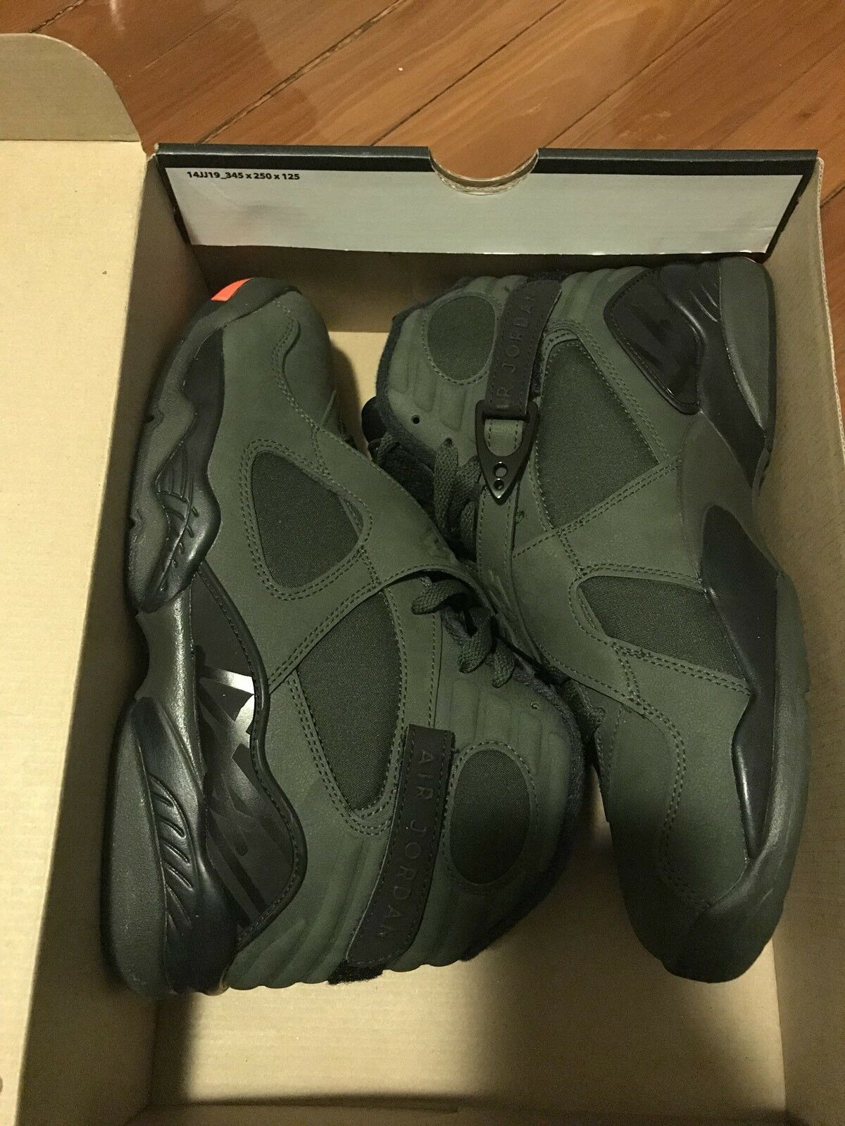 Nike Air Jordan 8 Retro Sequoia Eminem Undftd IV Sz 9 Receipt