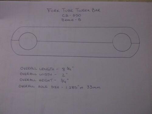 Two Piece Tweek Bar for Honda CB350 Choppers