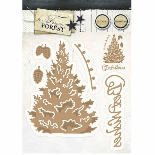 Studio Light Embossing Die Cut Stencil Frozen Forest nr 14 STENCILFF14 151832