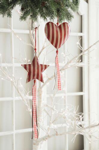 Anhänger Herz Stern Set Adventsdeko Weihnachtsdekoration Shabby Chic Weihnachten