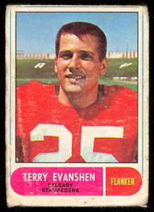 1968-OPC-O-PEE-CHEE-CFL-FOOTBALL-78-TERRY-EVANSHEN-LG-VG-CALGARY-STAMPEDERS