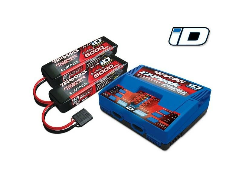 Traxxas Duo Chargeur Chargeur Chargeur +2x 3 S 5000 Lipo Set ou 4x4 E-Revo Spartan 2990g 914f1a