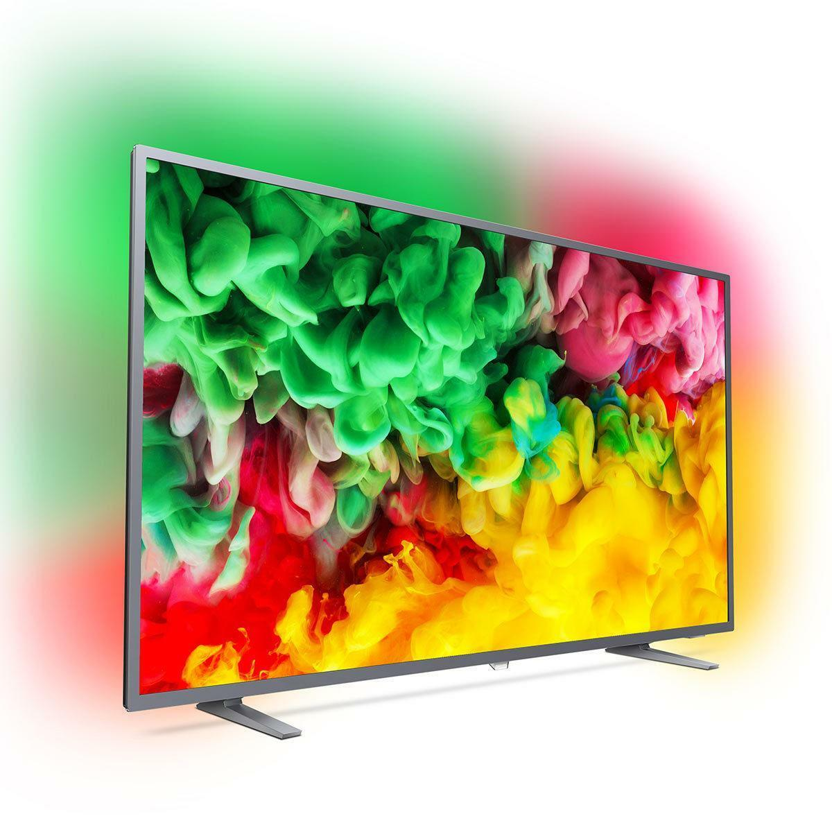 a04fe61d448cd Philips Large 65 Inch 4K UHD Smart TV Ambilight LED Television Freeview Play
