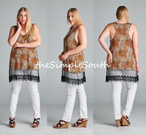 New EMERALD Long Double Lace Layering Jersey Knit Extender Tank Top Plus Size T-shirts, hemden en tops
