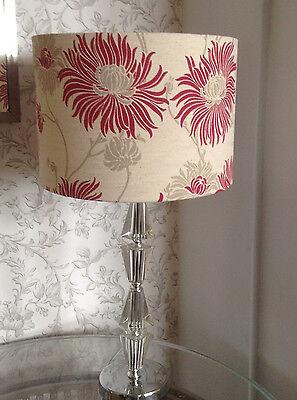 Laura Ashley Gosford Lampshade Lightshade Handmade Cranberry Lamp Drum Fabric